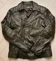 TIGHA Herren Biker Lederjacke Otis Black Sheep Leather Gr. L