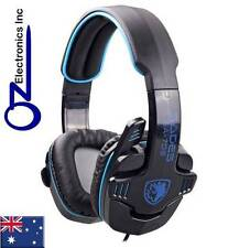 SADES GPOWER 708 Stereo PC Gaming Headset Headphones Mic MELBOURNE SHIPPED NEW