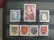 timbres français : armoiries et célébrités 1944 YT n° 599 à 605 *