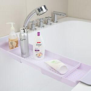 Retractable Bathtub Storage Rack Bath Tray Tub Multi-Function Sink Drain Hold FH