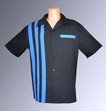 Bowling Shirts Mens Sz: LARGE Charlie Sheen NWT Retro Vintage (BluCo)
