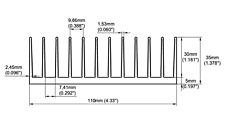 Heatsinkonline - Us Stock - 4.331'' (110mm) Wide Heatsink