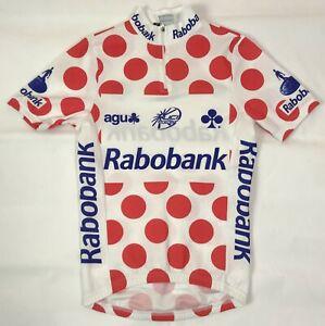 AGU Rabobank Polka Dots Jersey Men's Size 2XS Michael Rasmussen UCI PRO Tour Top