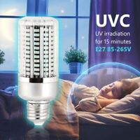 UV Germicidal Disinfection Lamp LED UVC E27 Home Ozone Disinfection Light B X4M9