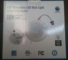 7.5 Dimmable Led Disk Light, Energy Star 15 W White