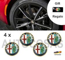 4x 56.5 mm Alfa ROMEO Emblema Central de Rueda MITO Emblema centrale della ruota