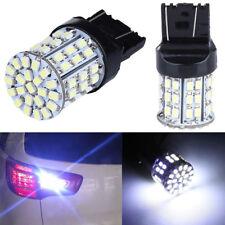 2Pcs/Set T20 W21W 7443 7440 64SMD 1206 LED Tail Stop Brake Light Lamp Bulb White