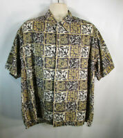Tori Richard Men's Hawaiian Shirt, 2XL, Pre-owned, Short Sleeve, 100% Cotton