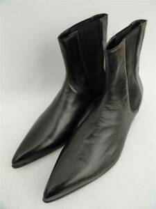 MAISON MARTIN MARGIELA Black Leather Ankle Boots UK9 EU43 US10 New
