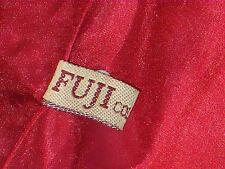 FUJI COLLECTION BonedRedSatinLacedRearSideZip SizeL