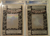 LOT of TWO (2) AMAZING SPIDER-MAN (1992) #365 PGX 9.6 9.4 NM+ Like CGC NEWSSTAND