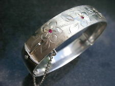 Pesado Vintage Georg Jensen Pulsera de plata esterlina Old London Brazalete Cadena