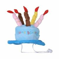 1X(Dogs Pet Dog Birtay Caps Hat with Cake Candles Design Birtay Party Costu O8N9