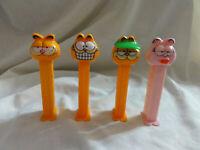 PEZ lot 4 GARFIELD ~ Cream Mouth, Grinning, Hat / Visor & Arlene ~ Series A 4.9
