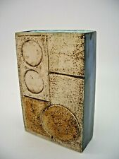 Troika Slab Vase Decorated by Marilyn Pascoe