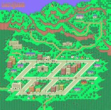 EARTHBOUND MAP POSTER