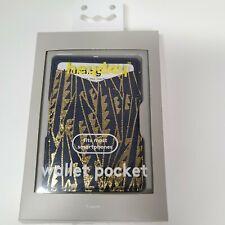 HeyDay Cell Phone Wallet Pocket Art Deco Navy