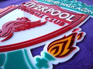 LIVERPOOL F.C. soccer 3D Art sign Jersey FOOTBALL signs NEW 3-D Klopp Robbo FC