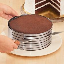 Kuchen Schneidhilfe Edelstahl Tortenboden Tortenbodenschneider Backform 26-28cm