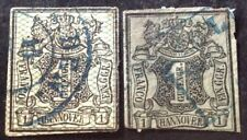 Hanover 1850/55 2 X Stamps Both Used