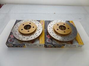 UC237 (Front Pair) DBA 4000 XS Series Rotors 2005-2010 Mustang Base V6