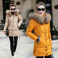2018 Winter Women Warm Jacket Long Down Jacket Padded Coat Slim Hooded Outwear