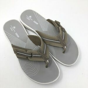 Clarks Womens Cloudsteppers Brinkley Jazz Thong Sandals Brown Size 9