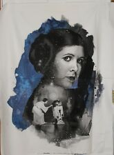 Blue Star Wars Princess Leia Carrie Fisher by Camelot Fabrics btp