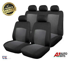 9 Pcs Protective Car Seat Covers Protectors Fabric Universal Set In Grey Black