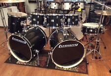 Ludwig Element Evolution 7 Piece Double Bass Drum Set-Zildjian ZBT Cymbals-Black