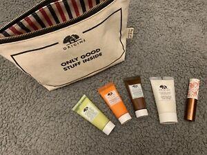 Origins Skin Care set sample Travel 5pc With Bag