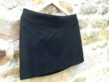 FILIPPA K - TRENDY FITTED  MINI SKIRT IN  BLACK STRETCHY FABRIC  - SIZE 14