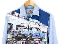 DESIGUAL Men Regulat Fit Casual Shirt Size M TZ606