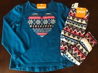 NWT Gymboree Girl Ice Dancer Fair Isle Tee /Fuzzy Leggings Outfit  4T 5T