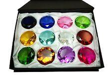 Tripact 60mm Huge Sapphire Amber Emerald Crystal Diamond Set 12pcs