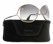 New Tom Ford Sunglasses Women TF 130 Black 28B Miranda TF130 Woman's