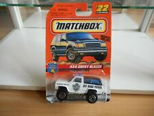 Matchbox 4x4 CHevy Blazer Police off Road patrol in White on Blister
