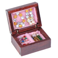 Dollhouse Miniatures Jewelry Box Doll Room Decor Accessory 1/12   4H
