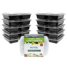 Pack of 10 Meal Prep Food Containers BPA free Plastic Portion Control