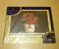 "Pimpernel Poinsettia Kathryn White Placemats 4 Cork Backed 15.75x11.75""  NEW"