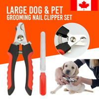Large Pet Dog Cat Claw Scissor Toe Nail Trimmer Care Grooming Grinder Clipper