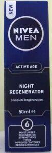 NIVEA FOR MEN ACTIVE AGE NIGHT REGENERATOR 50ML BRAND NEW & BOXED