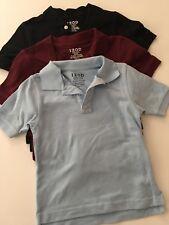 Izod Boys School Uniform Dressy Polo Shirts Size 4/5 Solid Blue Maroon Black