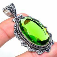 """Peridot Gemstone Handmade Ethnic Gift Jewelry Pendant 2.36"""" VK-2948"""