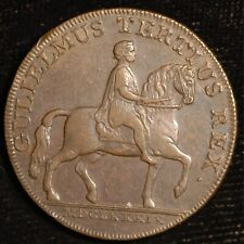 Yorkshire Hull Halfpenny Conder Token 1791 William III DH18 (T82)