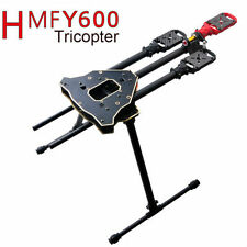 FPV HMF Y600 Y3 Tricopter Aircraft Frame + Landing Gear & Gimbal Mount CF tube