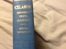 Icelandic Grammar by Stefan Einarsson; HC
