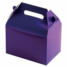 Purple Party Supplies Boxes Birthday Decoration Gable Loots x12 Goody Bag Solid