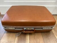 """Vintage Samsonite Suitcase~ Hard Shell Carry-On Luggage Brown 26"""" NO KEY"""