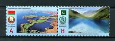 Belarus 2016 MNH National Parks JIS Pakistan 2v Se-tenant Set Nature Stamps